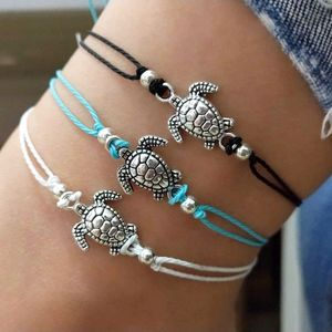Jewelry - PREVIEW Black Boho Tortoise Turtle Ankle Bracelet